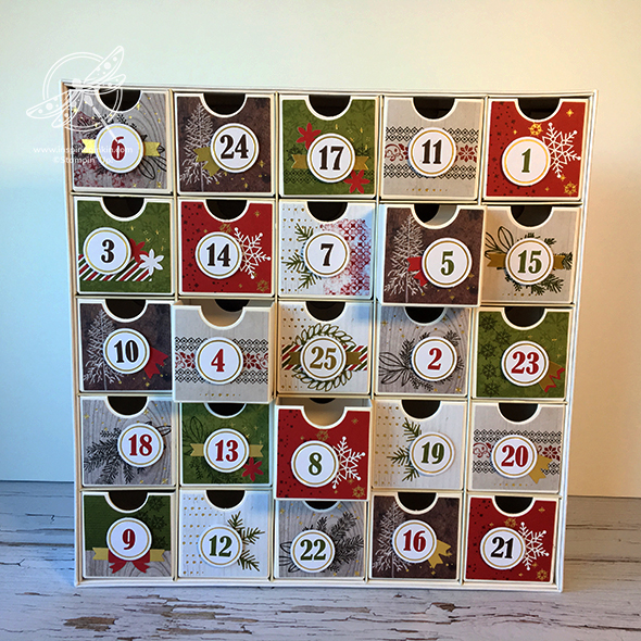 Christmas Countdown Advent Calendar Stanpin' Up! Uk Amanda Fowler Inspiring Inkin'