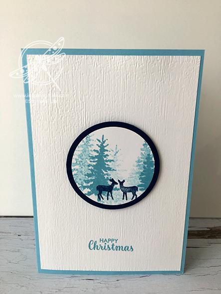 Snow Front Christmas Card Stampin' Up! Uk Amanda fowler Inspiring Inkin'