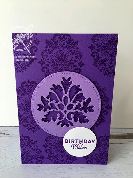 Tasteful Textures Birthday Card Stampin' Up! Uk Amanda Fowler Inspiring Inkin'