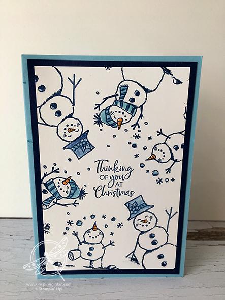 Snowman Season Christmas Card Stampin' Up! Ukm Amanda fowler Inspiring Inkin'