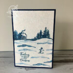 SnowFront Glitter Christmas Card Stampin