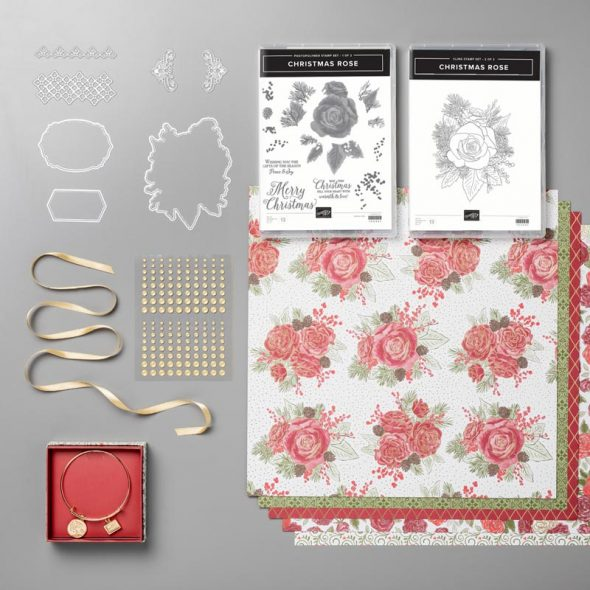 Christmas Rose Stampin' Up! Uk Amanda Fowler Inspiring Inkin'