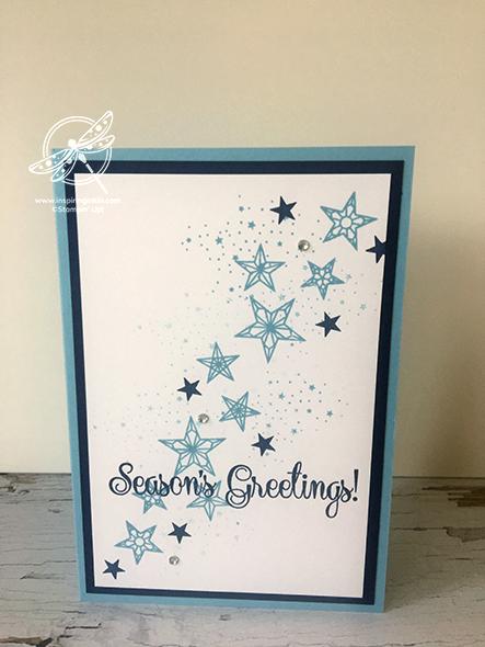 So many stars Christmas Card Stampin' Up! Uk Inspiring Inkin' Amanda fowler
