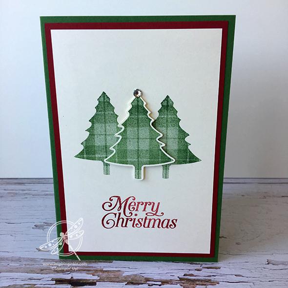 Tartan Christmas Tree Card