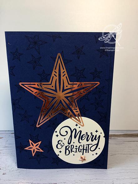 Brightly Gleaming Elements Christmas Card Stampin' Up! Uk Amanda Fowler Inspiring Inkin
