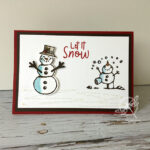 Snowman Punch Christmas Card Stampin