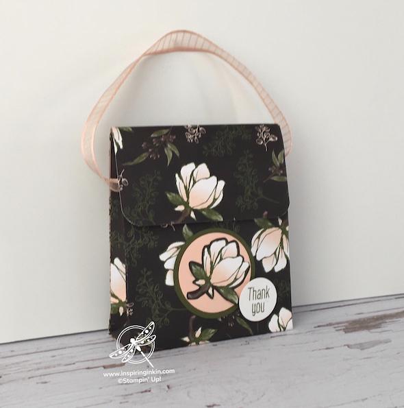fold flat handbag video Stampin' Up! Uk Amanda Fowler Inspiringinkin - 1