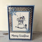 Feels like frost snowman card Stampin