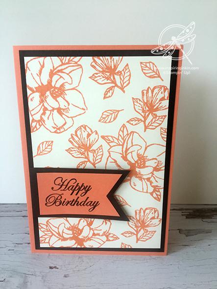 Magnolia Blooms Birthday card Stampin' Up! Uk Inspiring Inkin' Amanda Fowler