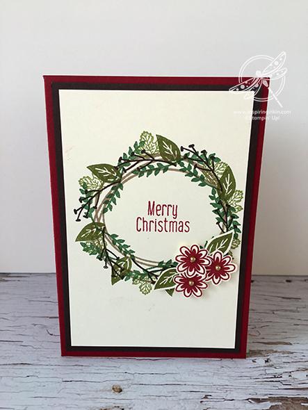 Christmas Wreath Card Video Stampin' Up! Uk Inspiring Inkin Amanda Fowler
