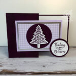 Purple Perfectly Plaid Christmas Card Stampin