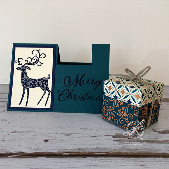 gift box on a card video Stampin' Up! UK Amanda Fowler Inspiring Inkin'
