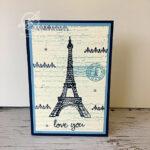 Parisian Beauty Valentines Card Amanda Fowler Inspiring Inkin