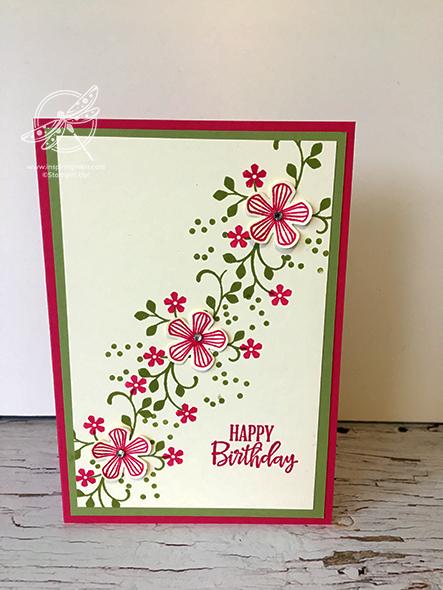 Thoughtful Blooms Card Stampin' Up! Uk Inspiring Inkin' Amanda Fowler