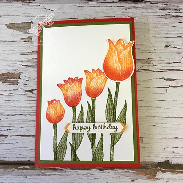 Timeless Tulips Video Stampin' Up! Uk Inspiring Inkin' Amanda Fowler
