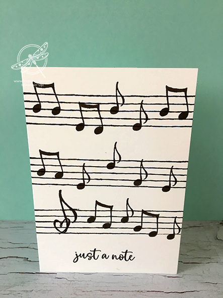 Music From the Heart Card Stampin' Up! Uk Inspiring Inkin' Amanda Fowler