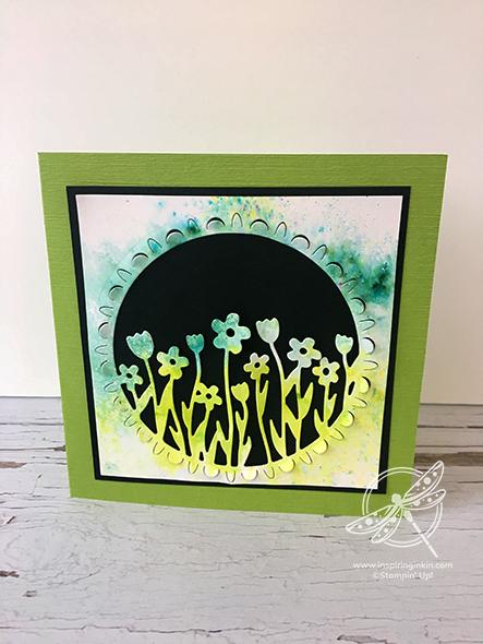 Pigment Sprinkles Flower Card Video Stampin' Up! Uk Inspiring Inkin' Amanda Fowler