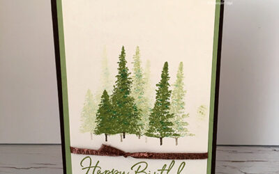 Mountain Air Birthday Card