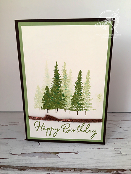 Mountain Air Birthday Card Stampin' Up! Uk Inspiring Inkin' Amanda Fowler
