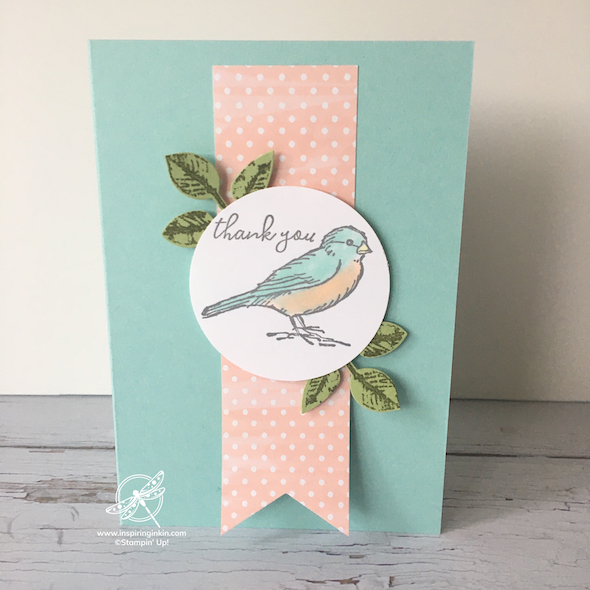 Free as a Bird thank you card