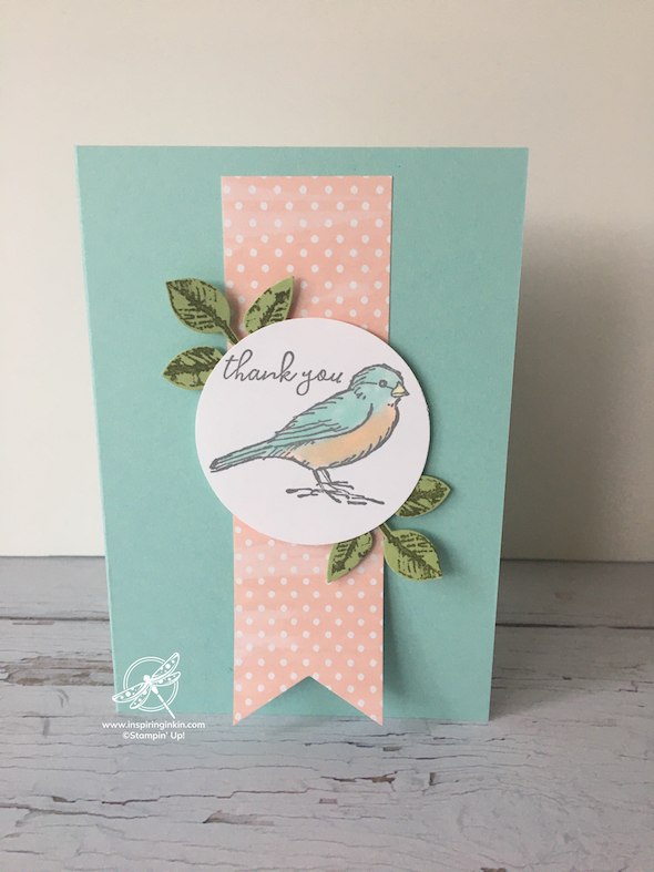 Free as a bird thank you card Stampin' Up! UK Amanda Fowler Inspiring Inkin'