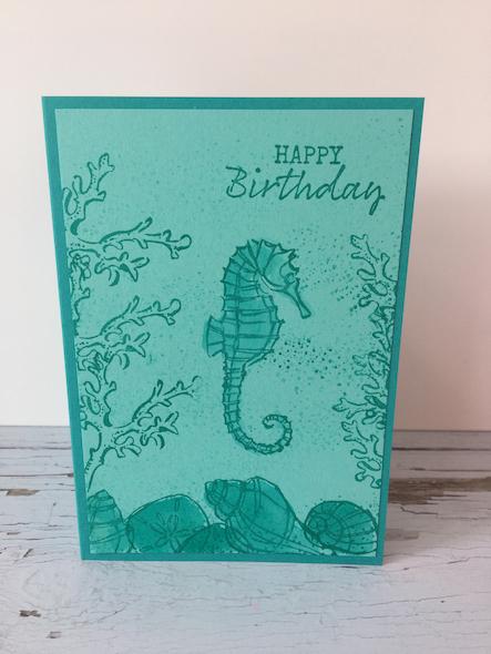 Seahorse Card Stampin' Up! UK Amanda Fowler Inspiring Inkin' - 1