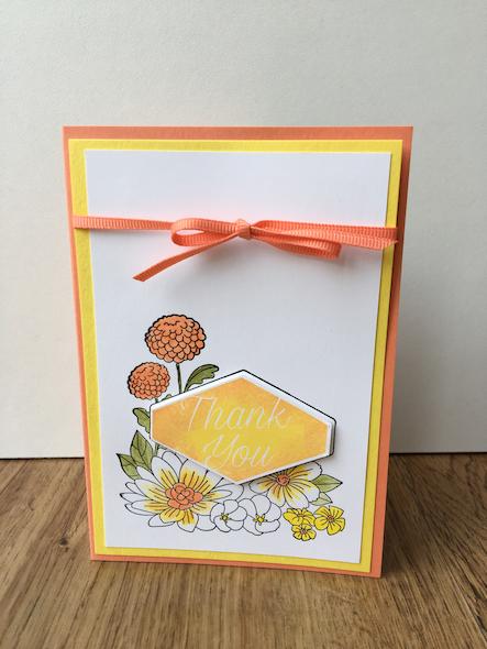 Accented Blooms Card Stampin' Up! Uk Inspiring Inkin' Amanda Fowler