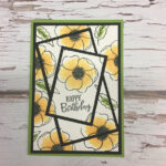 Painted Poppies Triple Time Stamping Card Stampin