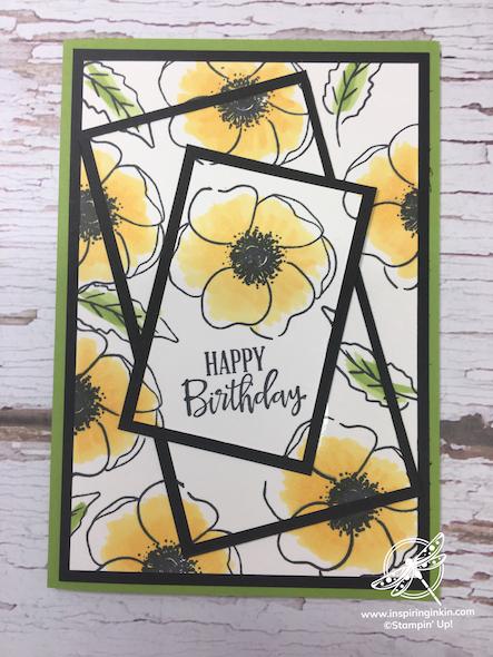 Painted Poppies Triple Time Stamping Card Stampin' Up! Uk Inspiring Inkin' Amanda Fowler - 4