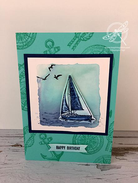 Sailing Home Card Stampin' Up! Uk Inspiring Inkin' Amanda Fowler