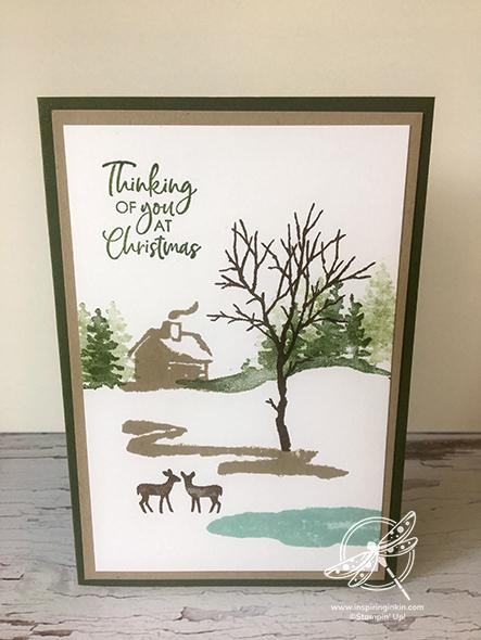Snow Front Christmas Card Stampin' Up! Uk Inspiring Inkin' Amanda Fowler