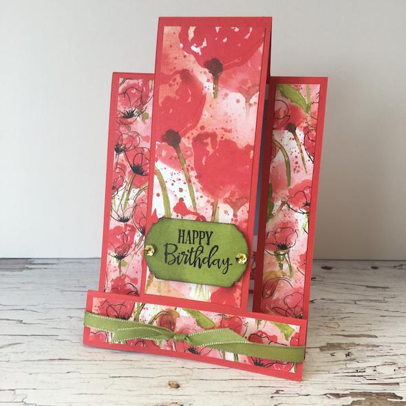 side step card Stampin' Up! UK Inspiring Inkin' Amanda Fowler