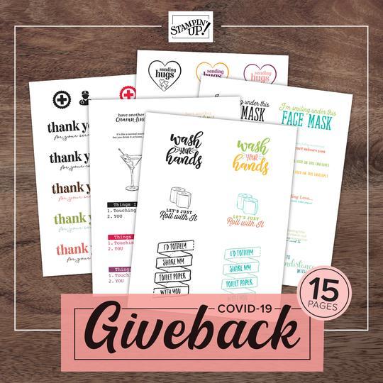 Giveback Stampin' Up! Uk Inspiring Inkin' Amanda Fowler