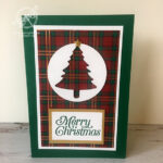 Pine Tree Christmas Card Stampin