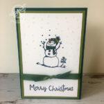 Snowman Christmas Card Stampin