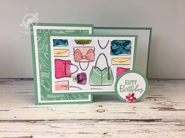 Z Fold Stand card Video Stampin' Up! Uk Inspiring Inkin' Amanda Fowler