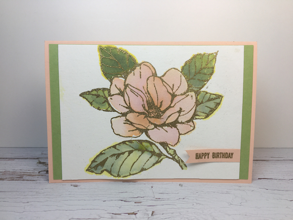 water colour re-inker Technique Stampin' Up! UK Inspiring Inkin' Amanda Fowler - 5