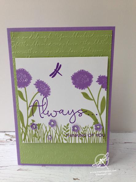 Field of Flowers Stampin' Up! Uk Inspiring Inkin' Amanda fowler - 4