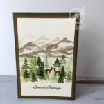 Snow front Christmas Card Stampin