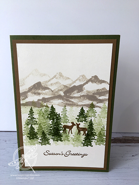 Snow front Christmas Card Stampin' Up! Uk Inspiring Inkin' Amanda Fowler