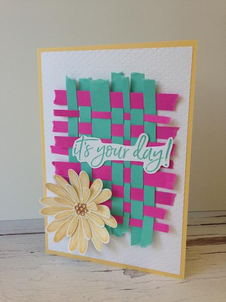 Paper Weaving Stampin' Up! UK Inspiring Inkin' Amanda fowler