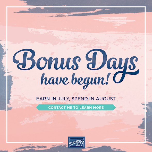 Bonus Days!!!