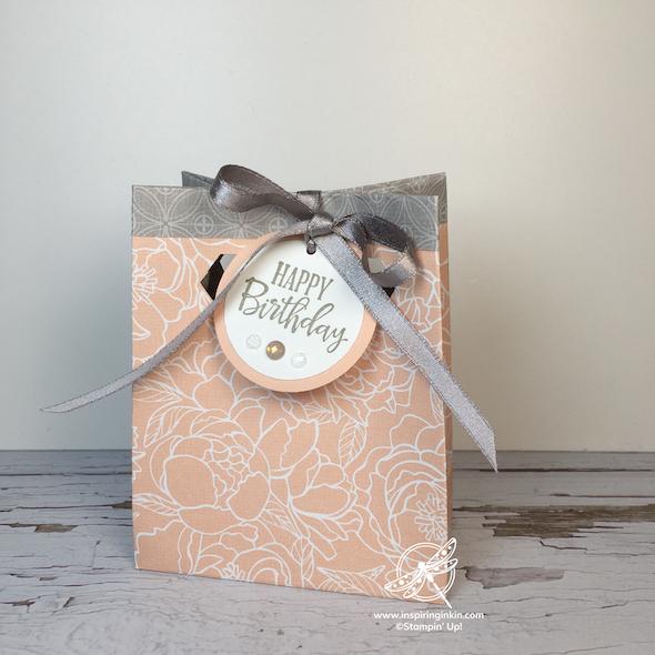 Gift Bag Stampin' Up UK Inspiring Inkin' Amanda Fowler - 1