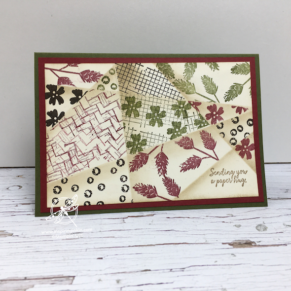 Retiform Technique Card Amanda Fowler Inspiring inkin' Stampin' Up! UK