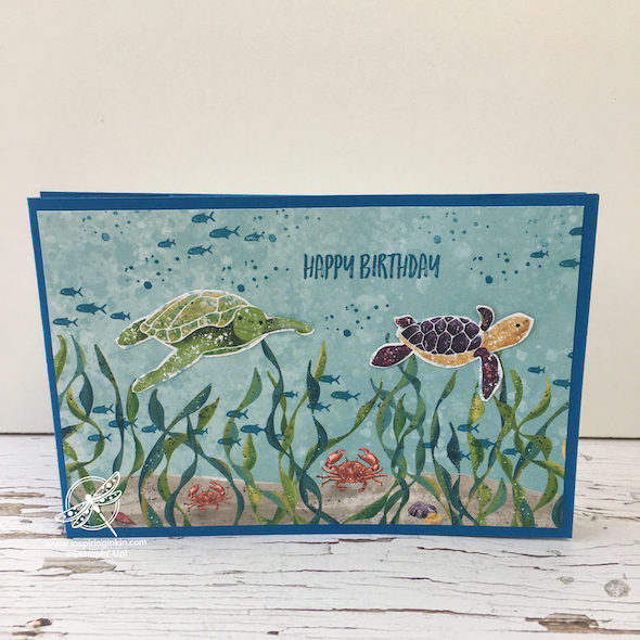 Wiper Fold Card Stampin' Up UK Inspiring Inkin' Amanda Fowler
