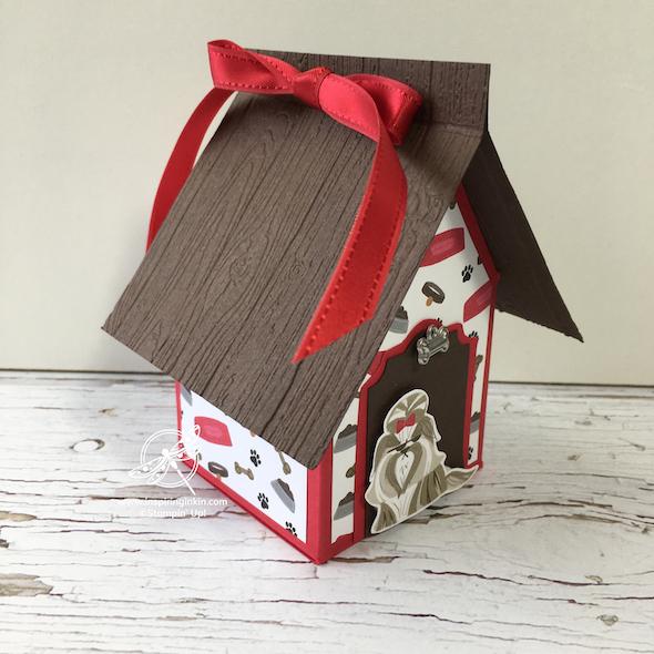 Dog Kennel Gift Box Inspiring inkin' Stampin' Up! UK Amanda Fowler - 1