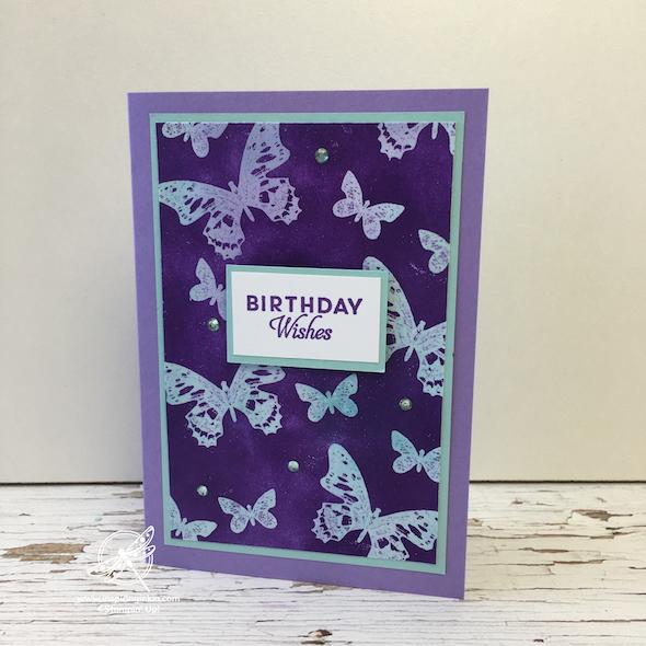Emboss Resist Technique Card Inspiring inkin' Stampin' Up! UK Amanda Fowler - 1