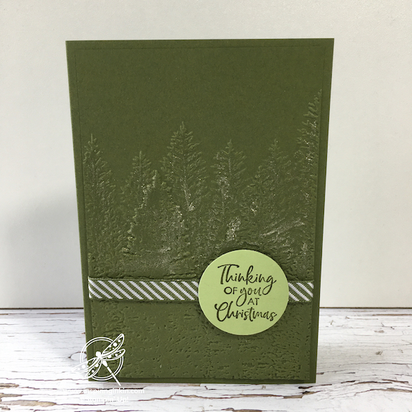 Evergreen Forest Card Inspiring inkin' Stampin' Up! UK Amanda Fowler