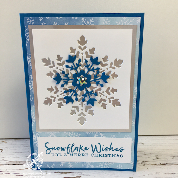 Snowflake Wishes Amanda Fowler Inspiring inkin' Stampin' Up! UK - 1