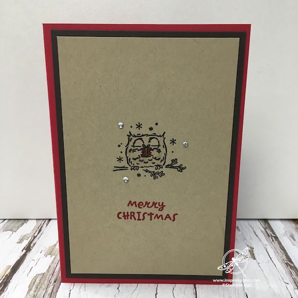 Quick Owl Christmas Cards Amanda Fowler Inspiring Inkin' Stampin' Up! Uk - 1